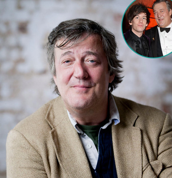Openly Gay Stephen Fry Half Age Husband; Massive Gap Helps Or Strains?