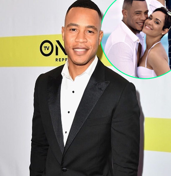 """""""Empire"""" Brother Trai Byers Showers """"Queen"""" Wife Grace Gealy With Sheer Love"""