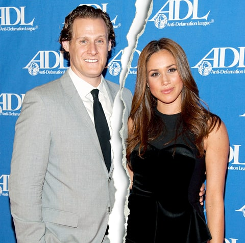 Divorced husband and wife: Trevor Engelson and Meghan Markle