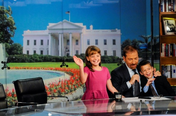 Image: Chuck Todd with his children
