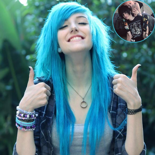 Alex Dorame, Colored Haired Youtube Star, Enjoying With Boyfriend: Dating in Johnnie Guilbert?