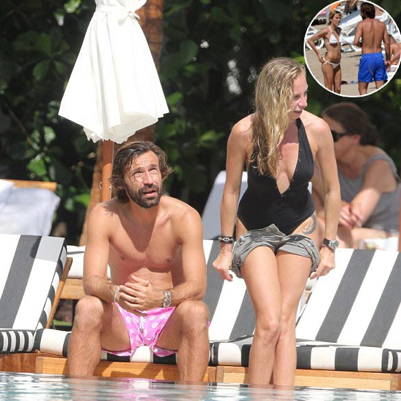 Andrea Pirlo: Divorced With Wife of 13 Years, Enjoying Beach Vacation With Girlfriend Valentina Baldini