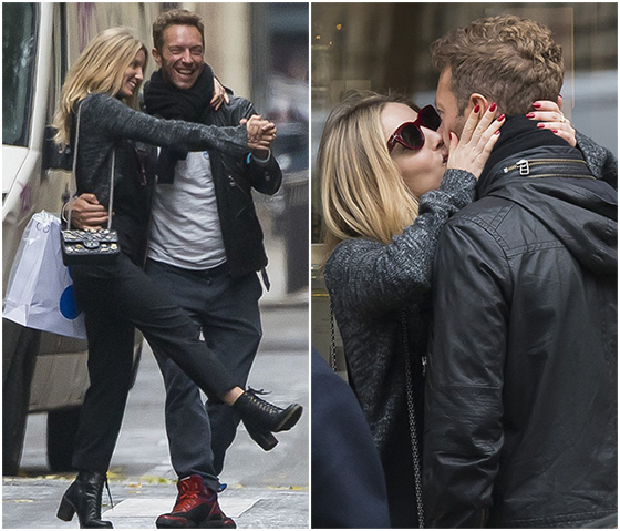 Boyfriend and girlfriend couple: Chris Martin and Annabelle dancing and singing on the street
