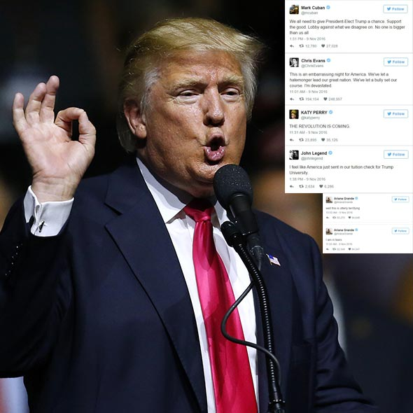 Presidential Election Latest Update: Celebrities React TO Trump Victory