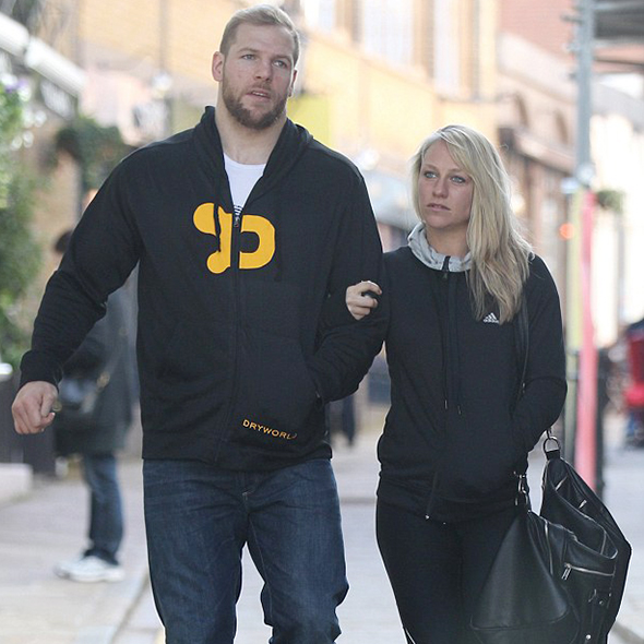 Enthusiast Chloe Madeley Takes Dating Session To Gym With Rugby Player Boyfriend; About To Touch Workout Goals