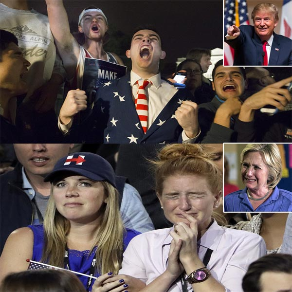 Presidential Election Update: Clinton Supporters Leave Headquarters in Tears as Trump fans' Cheering Getting Louder!