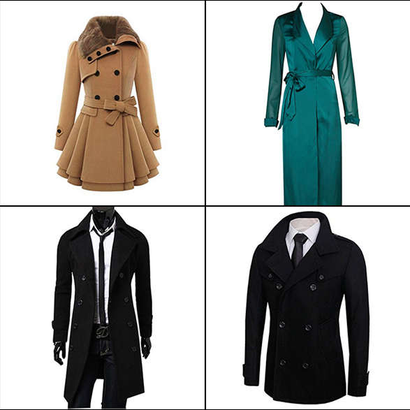 Types Of coat For Men And Women: Thick Wool Trench Coat, Jacket Thin Trench Coat, Wool Double Breasted Pea Coat