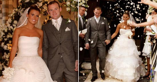Caption Wayne And His Wife Coleen Dazzles During Their Wedding Reportedly Donned One Of The Most Expensive Gowns