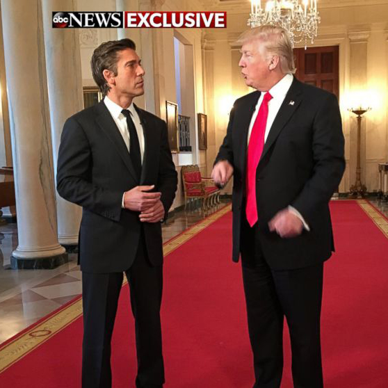 David Muir Challenges Donald Trump on the Payment of the Mexican Border Wall in an Exclusive Interview