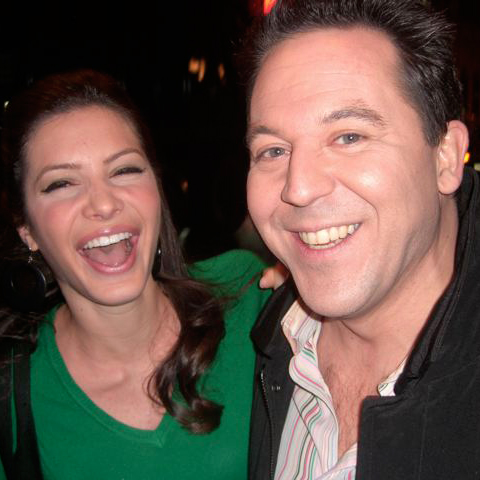 The Fox News Presenter Greg Gutfeld with his wife Elena Moussa