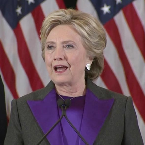 Hilary Clinton Delivers Painful Concession Speech on Her Loss in The Presidential Election!