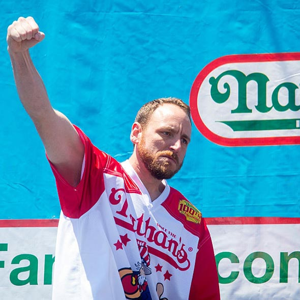 Joey Chestnut's New World Record on Hot Dog Eating Contest: 70 Hot Dogs in 10 Minutes