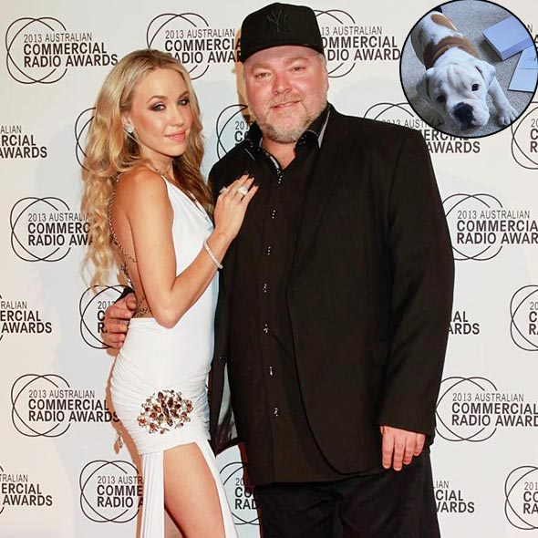 One Step For Love! Kyle Sandilands And Imogen Anthony Buy A Cute Bulldog!