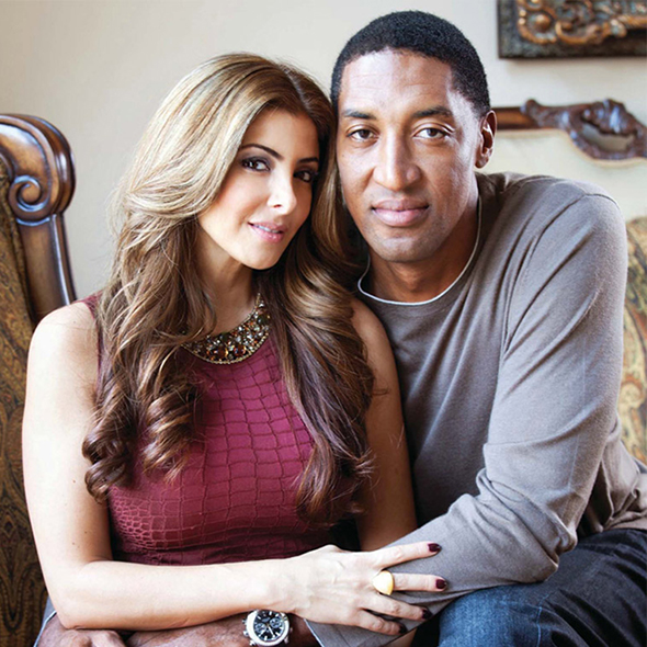 Larsa Pippen with Man Scottie Pippen
