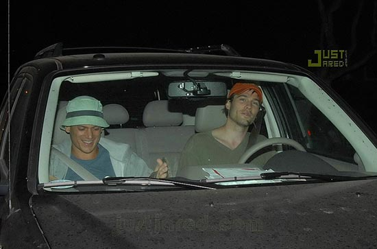 Luke and Wentworth together in a car after hanging out all day in Los Angeles in 2007.