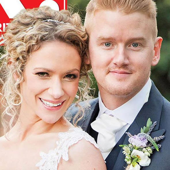 mikey norths winter wedding married his girlfriend in