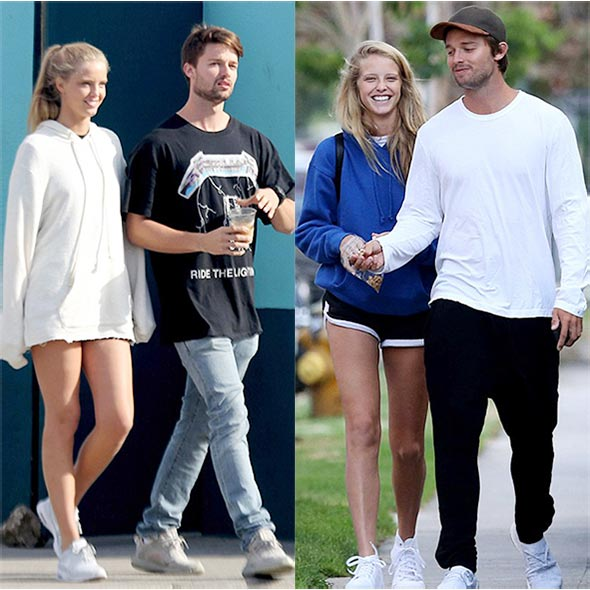 Model Patrick Schwarzenegger Appears Infatuated While Walking With His Girlfriend Abby! View Full Report