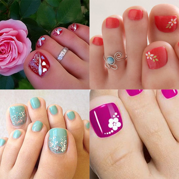 Top 10 attractive toe nail designs for 2016 prinsesfo Choice Image