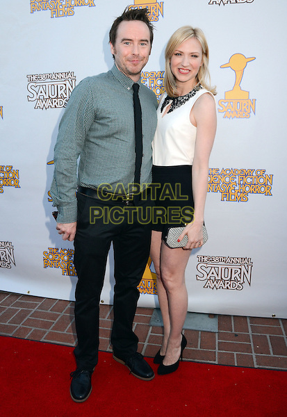 Beth Riesgraf with her long-time boyfriend Alan Smyth