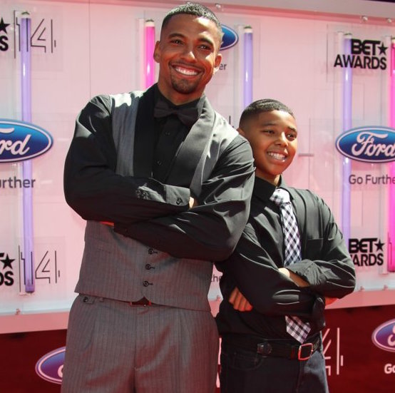 Christian Keyes with son Christian Keyes Jr.