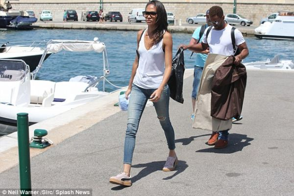 Romantically linked boyfriend and girlfriend: Bernard Smith and Joan Smalls spotted strolling in October 2016