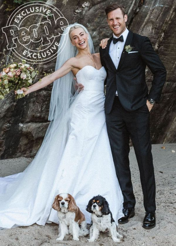 Newly married husband and wife: Julianne Hough and Brooks Laich at their wedding ceremony