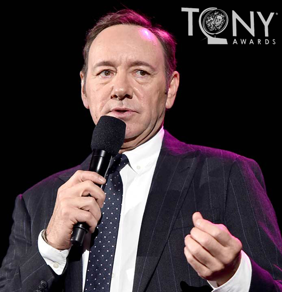 Kevin Spacey Has All The Fun At The Tony Awards; The Man With No Wife Pokes At His Gay Rumors