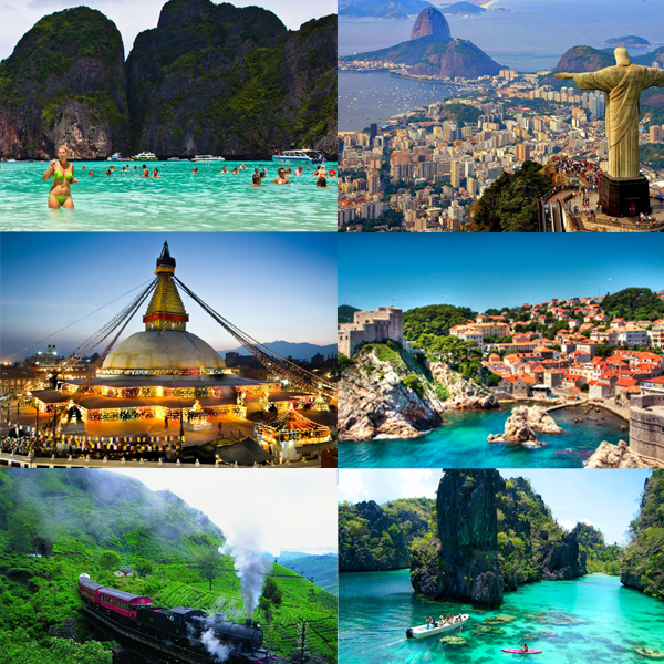 Top World Travel Destinations 10 Of The Most Beautiful: Top Ten Popular Travel Destinations; A Combo Of Best