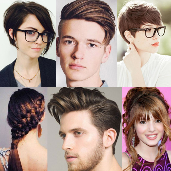 collage hair style a set of college and school hair design that will drop 6787