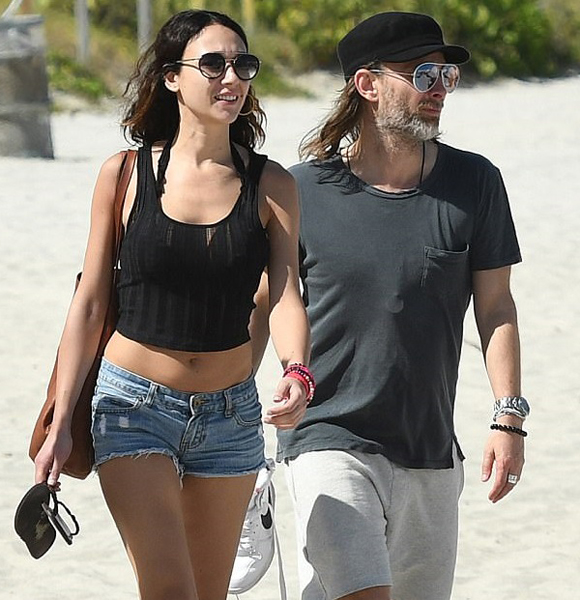 Thom Yorke and his new Girlfriend Dajana Rancione Spotted at The Miami Beach!