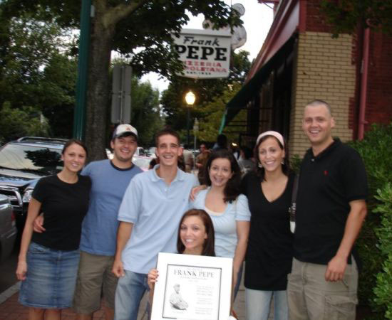 Image: Hallie Jackson and her husband(on the right) and their friends