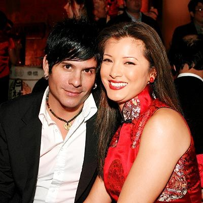 Kelly Hu with her ex-boyfriend