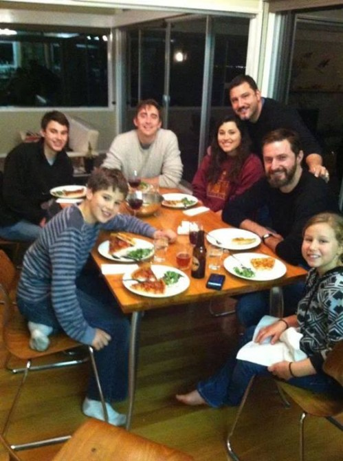 Lee Pace and Richard Armitage with family