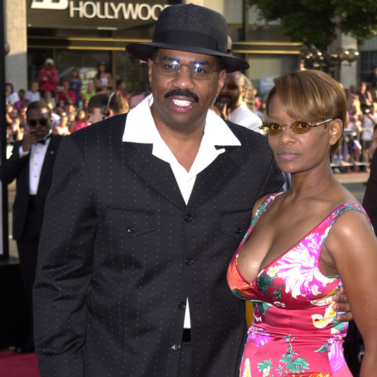 Steve Harvey with his second wife Mary Lee Harvey