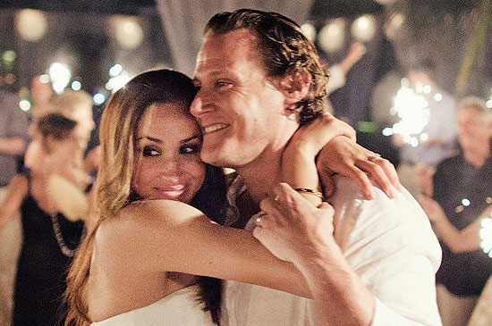 Meaghan Markle with her ex-husband Trevor Engelson